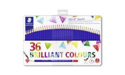 Staedtler Ergo Soft háromszögletű 36 különböző színű akvarell ceruza készlet fém dobozban (36 db)