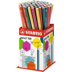 "STABILO ""Pencil 160"" 2B hatszögletű grafitceruza display (72 db)"