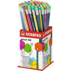 "STABILO ""Pencil 160"" 2B hatszögletű grafitceruza radírral display (72 db)"