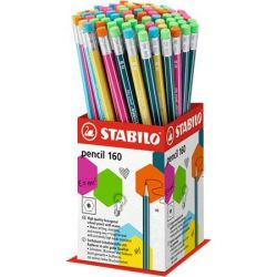 "STABILO ""Pencil 160"" HB hatszögletű grafitceruza radírral display (72 db)"
