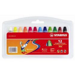 Stabilo 12 különböző színű olajpasztell kréta,