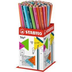 """STABILO """"Trio"""" 2B háromszögletű grafitceruza display (72 db)"""