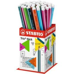 "STABILO ""Trio thick"" HB háromszögletű vastag grafitceruza display (72 db)"