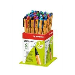 """Stabilo """"Greenpoint"""" 0,8 mm, vegyes színek rostirón display"""