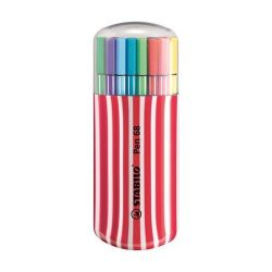 """Stabilo """"Pen 68 Zebrui"""" 1 mm, piros tok, 20 különböző színű rostirón készlet"""