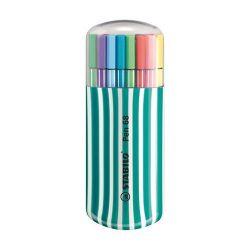"""Stabilo """"Pen 68 Zebrui"""" 1 mm, türkiz tok, 20 különböző színű rostirón készlet"""