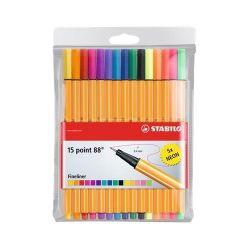 "Stabilo ""Point 88"" 0,4 mm, 15 különböző színű tűfilc"