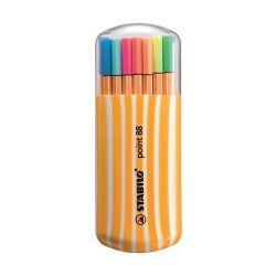 """Stabilo """"Point 88 Zebrui"""" 0,4 mm, 15+5 különböző szín tűfilc készlet"""