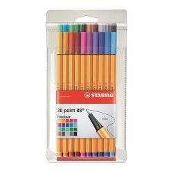 """Stabilo """"Point 88 Big Point"""" 0,4 mm, 20 különböző színű tűfilc készlet"""