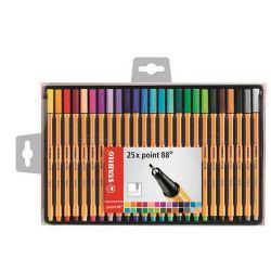 """Stabilo """"Point 88"""" 0,4 mm, 25 különböző színű tűfilc készlet"""