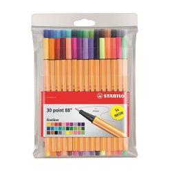 """Stabilo """"Point 88"""" 0,4 mm, 25+5 különböző színű tűfilc készlet"""