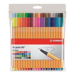"""Stabilo """"Point 88"""" 0,4 mm, 40 különböző színű tűfilc készlet"""