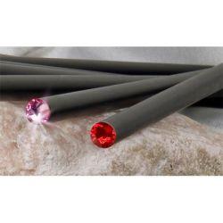 ART CRYSTELLA rózsaszín SWAROVSKI® kristállyal 17 cm fekete ceruza