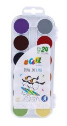 COOL BY VICTORIA 24 mm átmérőjű 24 színű vízfesték