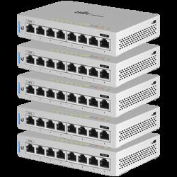 Ubiquiti UniFi US-8 8-Port Gigabit 5 db menedzselhető switch készlet