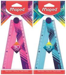 """MAPED """"Cosmic"""" 30 cm összehajtható műanyag vegyes színű vonalzó"""