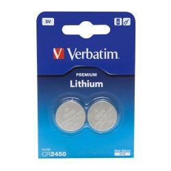 Verbatim 49938 2db 3V CR2450 gombelem