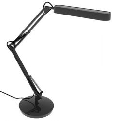 """ALBA Fluoscope"""" 11 W kompakt fénycsöves fekete asztali lámpa """""""