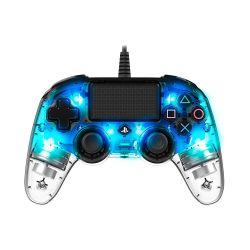 Bigben Nacon vezetékes halványkék / átlátszó PlayStation 4 kontroller