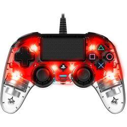 Bigben Nacon vezetékes halványpiros / átlátszó PlayStation 4 kontroller