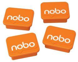NOBO  4 db narancs mágnes fehértáblához