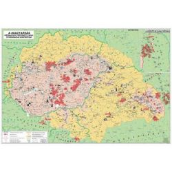 """STIEFEL """"Magyarország néprajzi térkép"""" kétoldalas könyökalátét"""