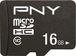 PNY PERFORMANCE PLUS 16GB MICRO SD Class 10 memóriakártya + SD adapter