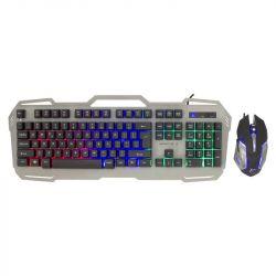White Shark Apach-2 GMK-1901 104 gomb, angol, USB 2.0 fekete-ezüst gamer egér + billentyűzet