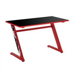 White Shark GD-ZZ-RED 50 kg terhelhetőség, fém lábak, MDF lap fekete-piros gamer asztal