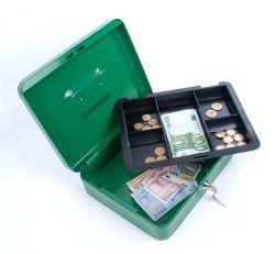 DONAU 15,2x11,5x8 cm zöld pénzkazetta