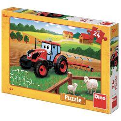 Dino 351622 Zetor a traktor 24 darabos puzzle