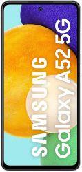 """Samsung Galaxy A52 6.5"""" 128GB Dual SIM 5G fekete okostelefon"""