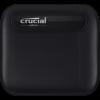 Crucial X6 2TB USB-C 3.1 Gen-2 fekete külső SSD