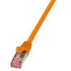 LOGILINK patch kábel, Cat.6 S/FTP PIMF PrimeLine 3,00m narancssárga