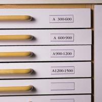 3L 30x150 mm címketartó zseb fiókhoz