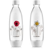 SodaStream Fuse 2 x 1L virágmintás palack