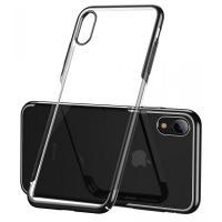 Baseus Glistening iPhone Xr 6.1 fekete-átlátszó TPU tok