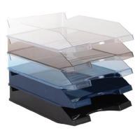VICTORIA műanyag áttetsző kék irattálca