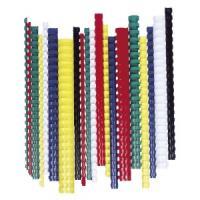 FELLOWES 25 mm, 181-200 lap, műanyag fehér spirál (50 db)