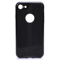 IPAKY New Plume Apple Iphone 7 Premium ütés és porálló fekete védőtok