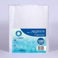 BLUERING A4 40 micron narancsos lefűzhető genotherm (100 db)