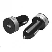 NAVON CC10 1,2A USB 1200mA fekete autóstöltő+kábel