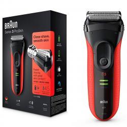 Braun Series 3-3030s fekete-piros borotva