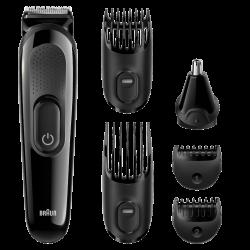 Braun MGK3020, 4 fésű, 13 hosszbeállítás, mosható, fekete multifunkciós testszőrzet ápoló